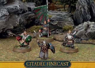 Figurki Władca Pierścieni LotR: SBG, Dwarfs Command, Grupa dowodzenia Krasnoludów