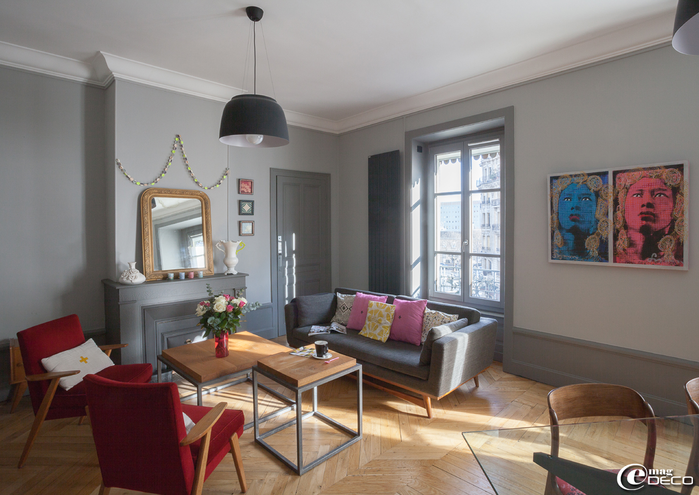 Un appartement trendy lyon e magdeco magazine de - Interieur eclectique appartement sobrado studio ...