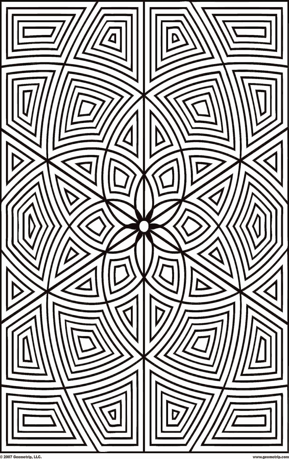 Geometric Coloring Pages Printable Sheets Free Sheet