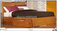 Tempat tidur Jati minimalis laci model coco