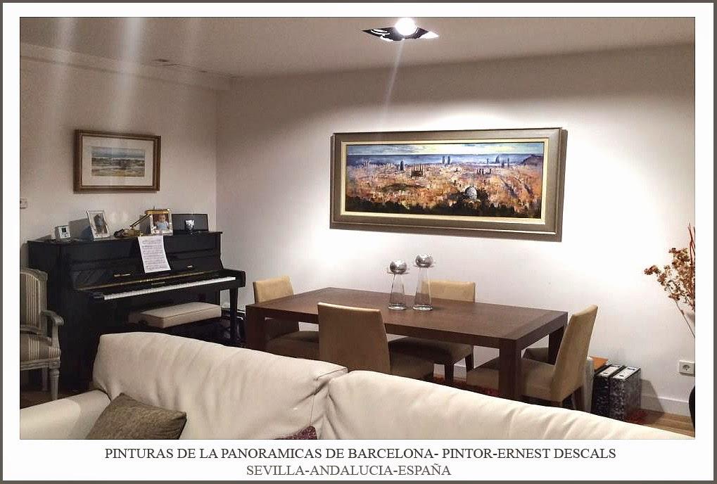 BARCELONA-PINTURAS-PINTOR-ERNEST DESCALS-PAISAJES-ARTE-DECORACION-SEVILLA-ANDALUCIA-ESPAÑA
