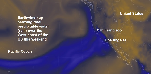 The powerful El-Niño storm dumped around 380 billion gallons of water onto the West coast this week