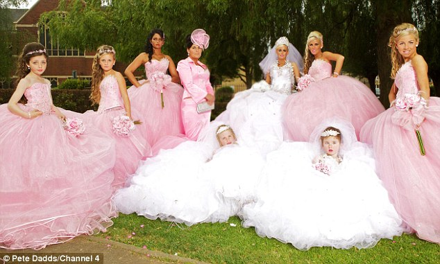Wedding dressses big poofy dresses for girls american gypsy pink
