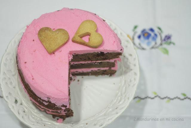 Reto nº13. Chocolate buttermilk layer cake con buttercream de fresas