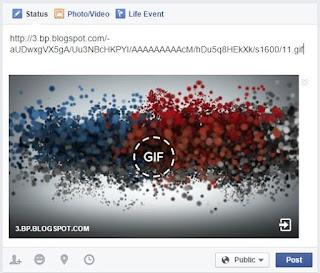 posting GIF image in facebook
