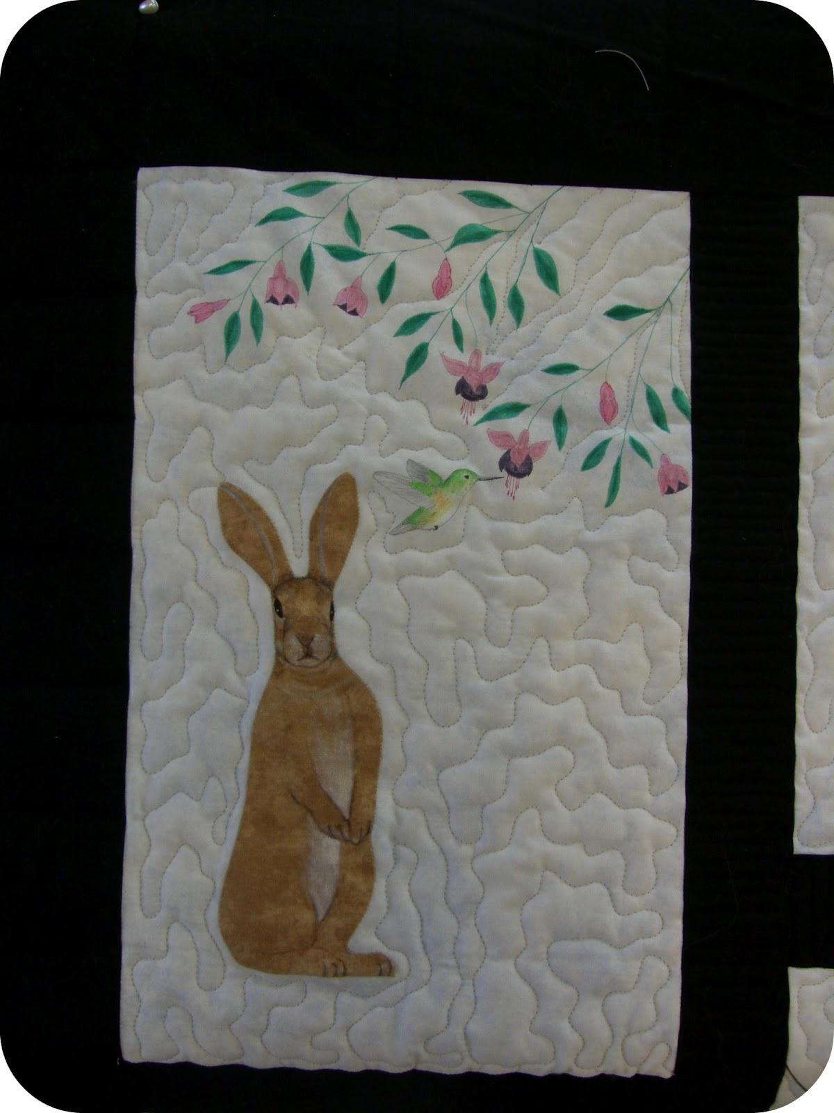 Bunny Appliqué Folk Art - Homepage - allpeoplequilt.com