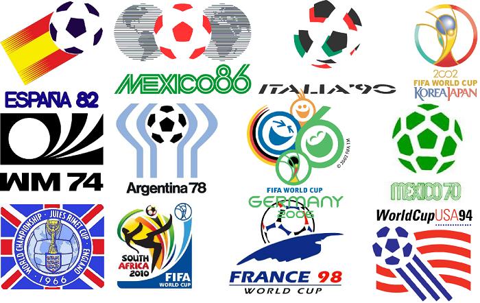 Loga piłkarskich mistrzostw świata od 1966 r. do 2014 r.