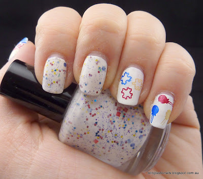 Pretty and Polished Jawbreaker with metallic red, yellow and blue stamping