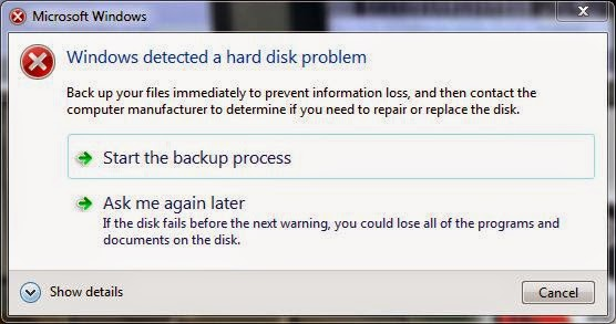 How to reset hard disk S.M.A.R.T BAD