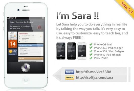 sara iphone ipad assistant siri alternative