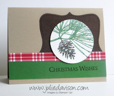 Stampin' Up! Ornamental Pine Card + VIDEO Tip for Glittered Images