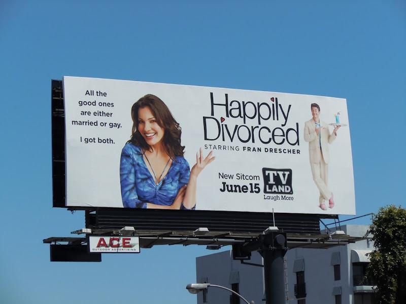 Happily Divorced TV billboard