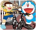 Doremon đua xe trượt, game van phong