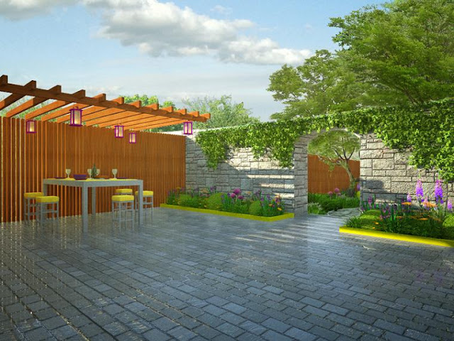 projektowanie, schludny, ogrod,