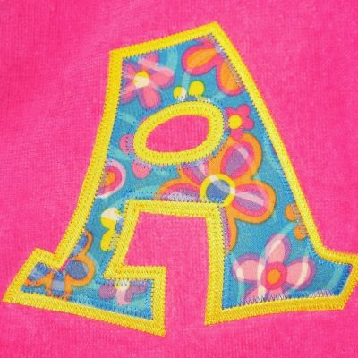 two color applique monogram