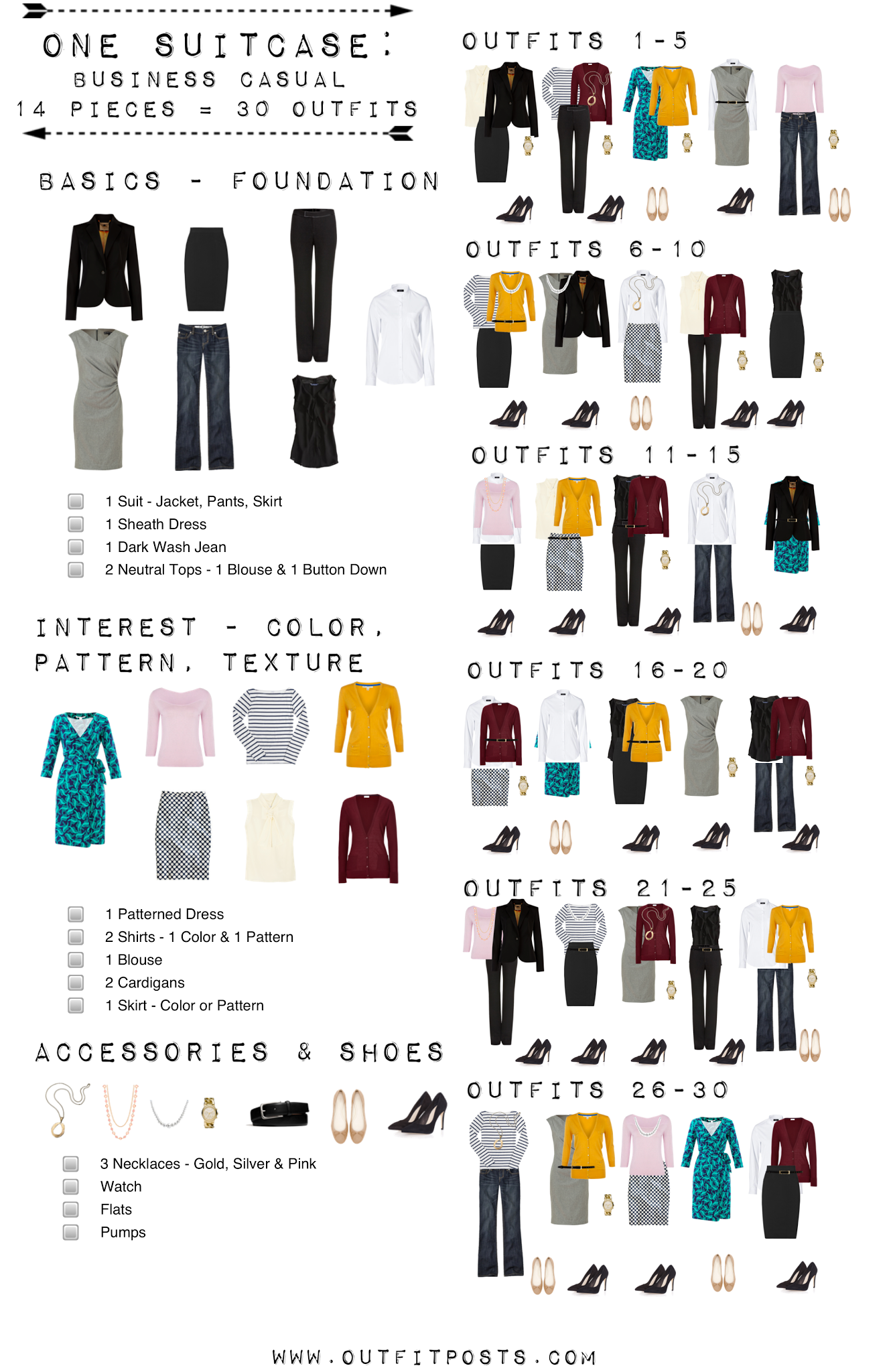 one suitcase: business casual