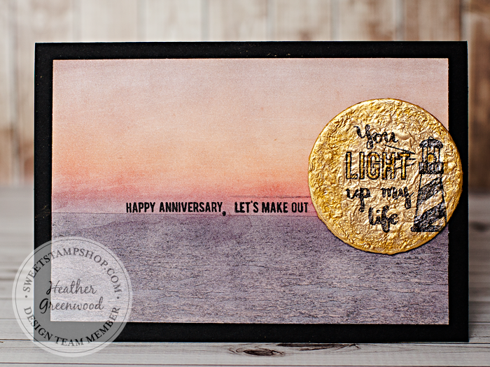 Heather Greenwood Designs | Sweet Stamp Shop - August Release | Sail Away Stamp Set | Happy Anniversary Card