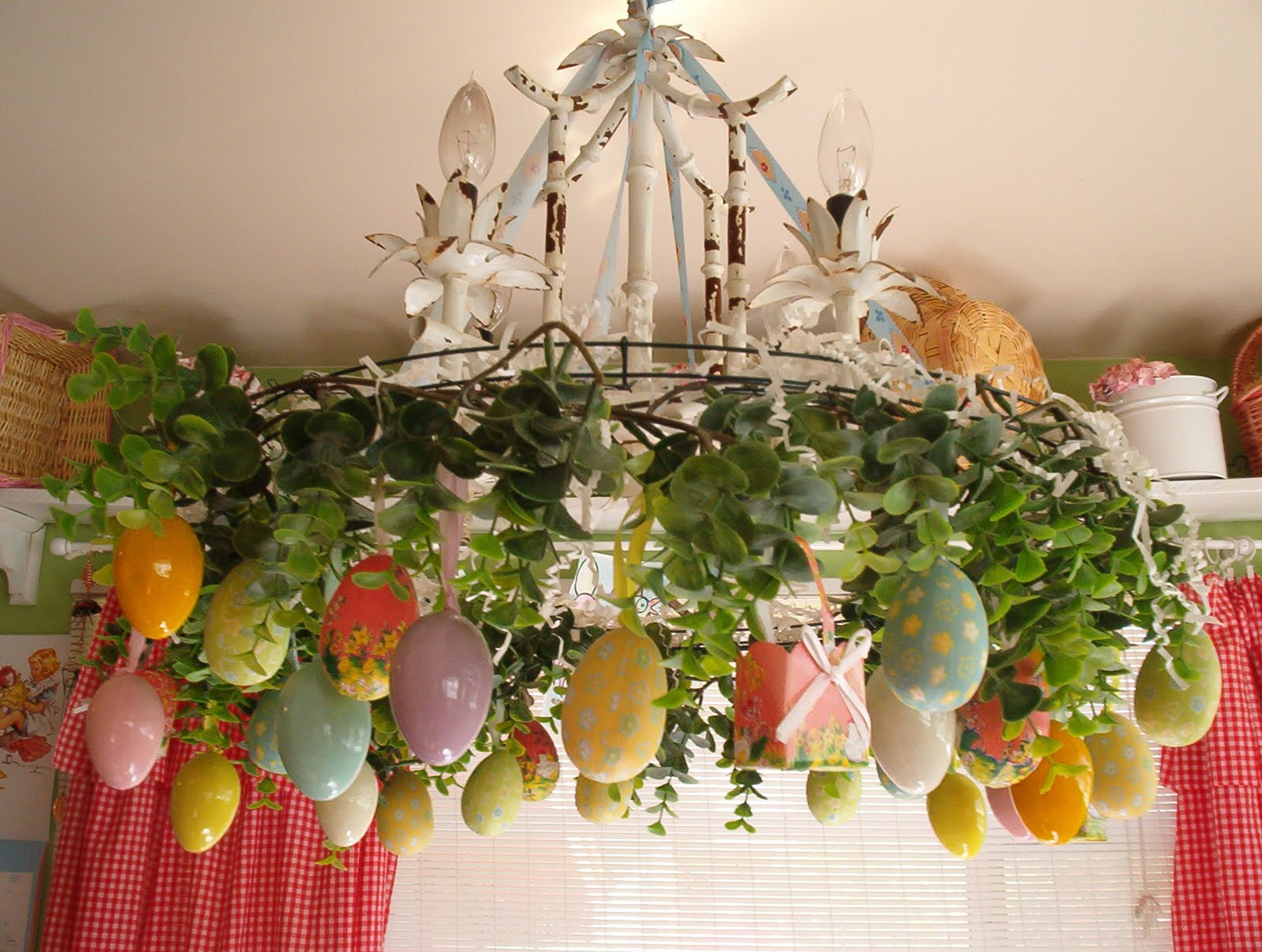 Easter decorations 2017 grasscloth wallpaper for Home easter decorations