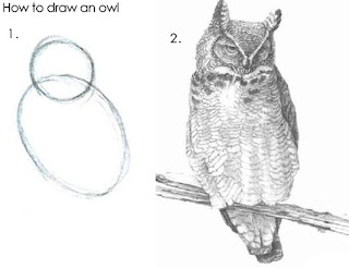 How to draw an owl - not really