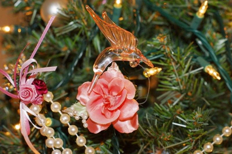 Flower Clip Hummingbird Ornament