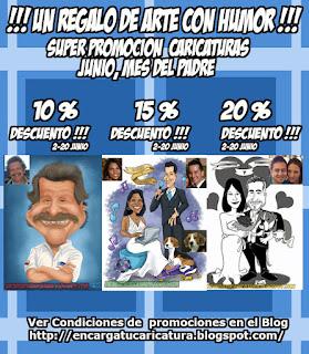 PROMOCION CARICATURAS MES DEL PADRE 2015