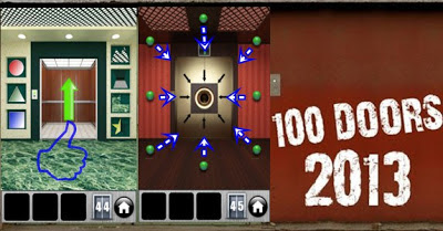 Solution Game 100 Doors 2013 Level 41 45 Guide Game 100