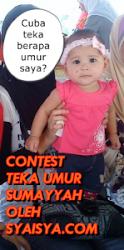 CONTEST TEKA UMUR SUMAYYAH OLEH SYAISYA.COM
