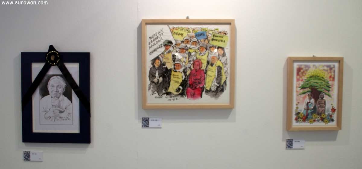 Dibujos de comfort women coreanas