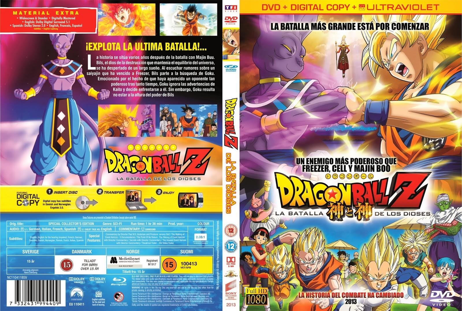 Dragon Ball Z La Batalla De Los Dioses DVD