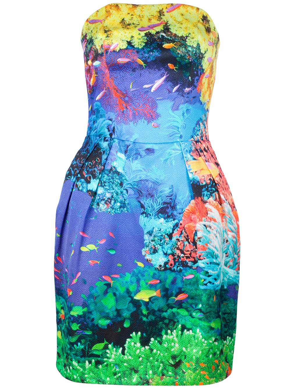 look primark sea fish print bubble dress 8 10 12 14 16