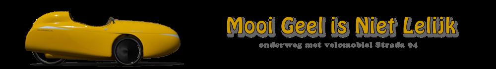 Mooi Geel Is Niet Lelijk - onderweg met velomobiel Strada 94