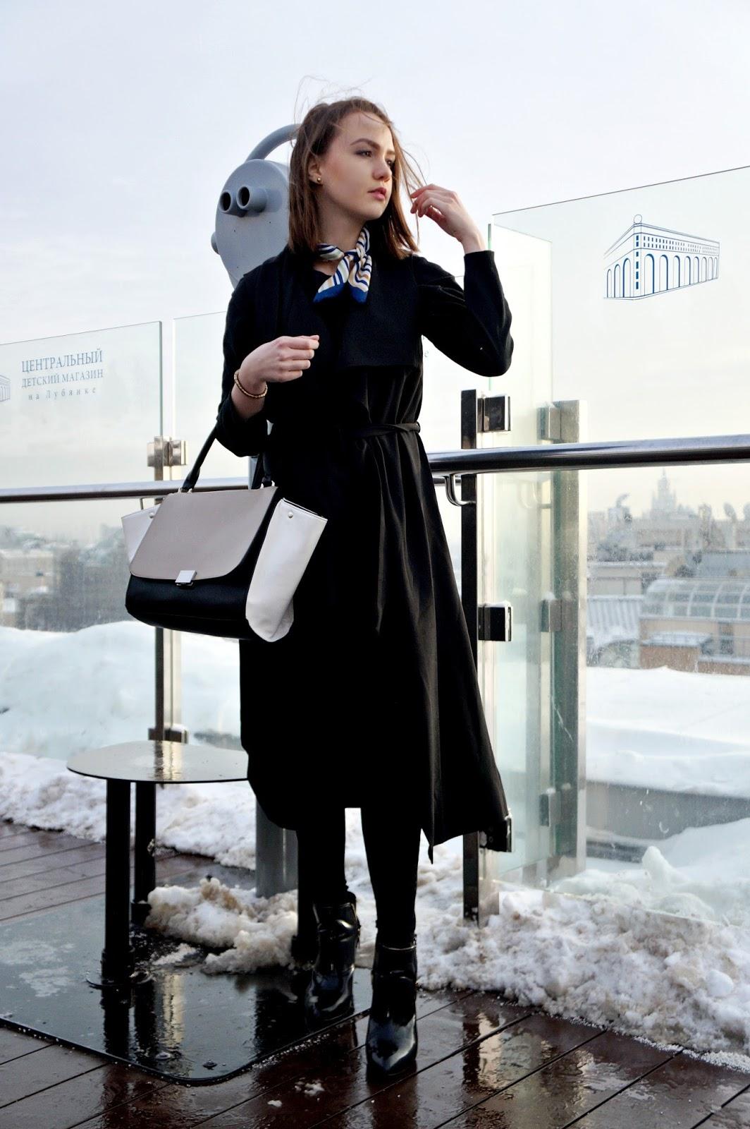 Black long vest | Alina Ermilova