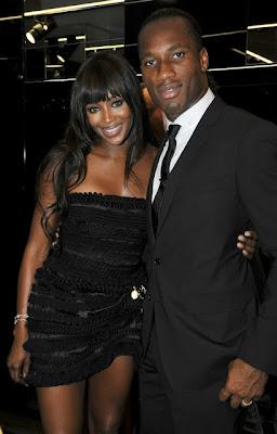 Didier Drogba with Wife