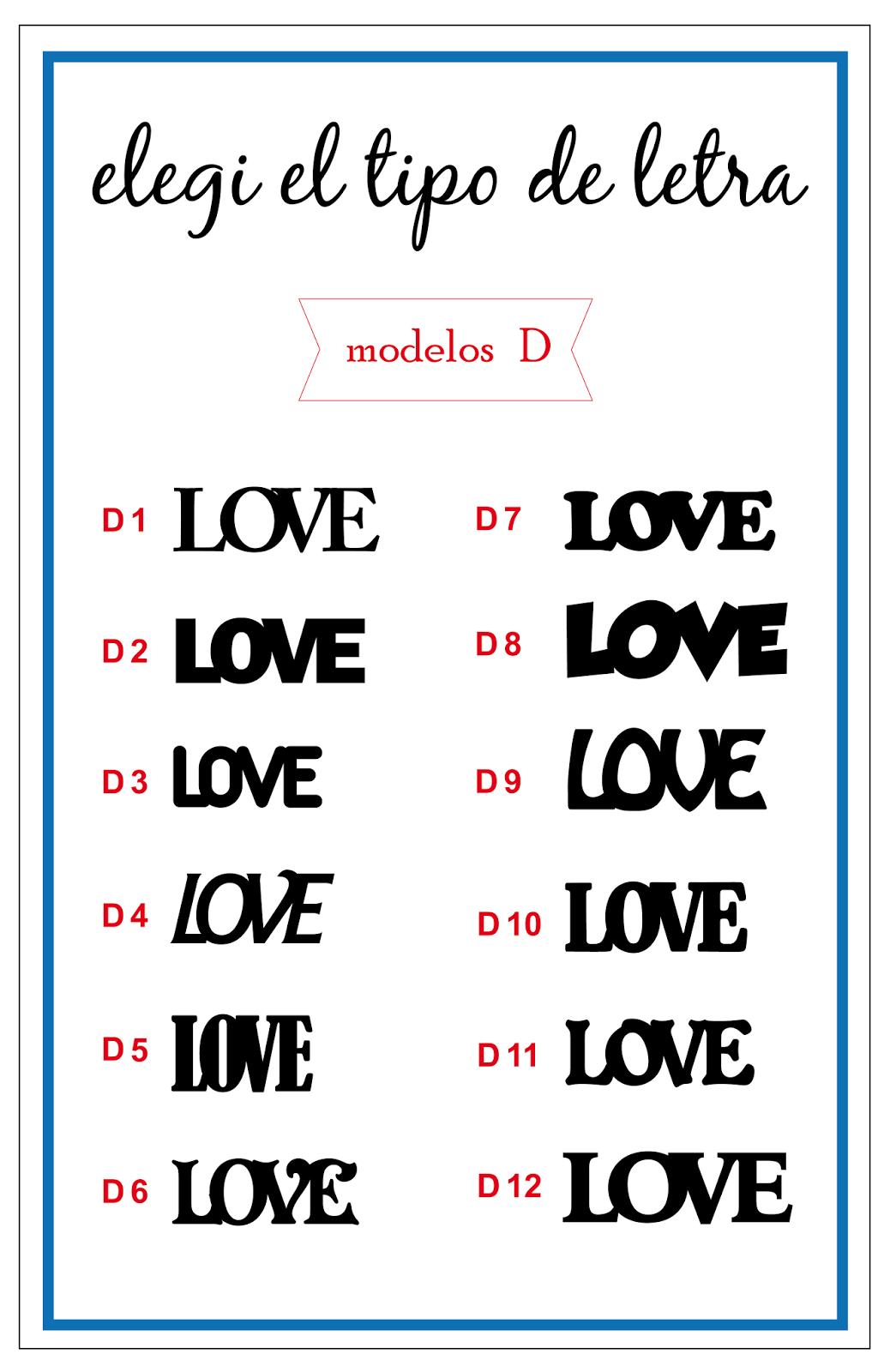 tipo de letra D