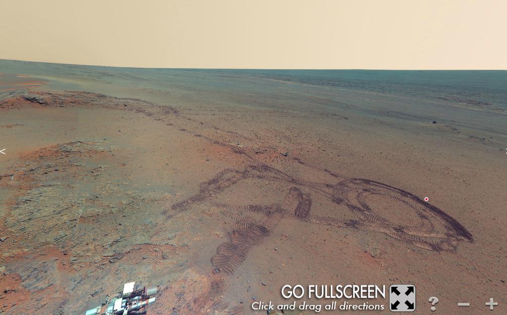 موقع لتجول على كوكب المريخ بتقنية 3D