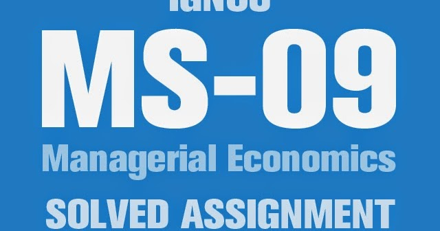 assignment on managerial economics