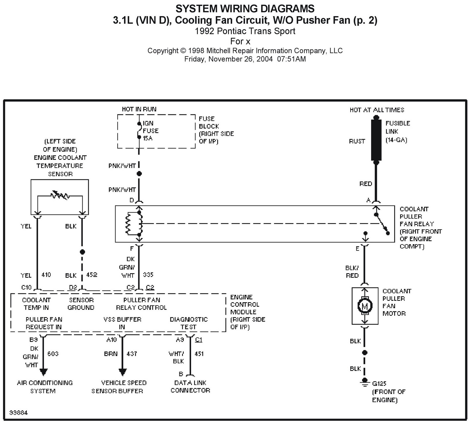 Pontiac Engine Wiring Diagram : Chevy p motorhome fuel pump location get free