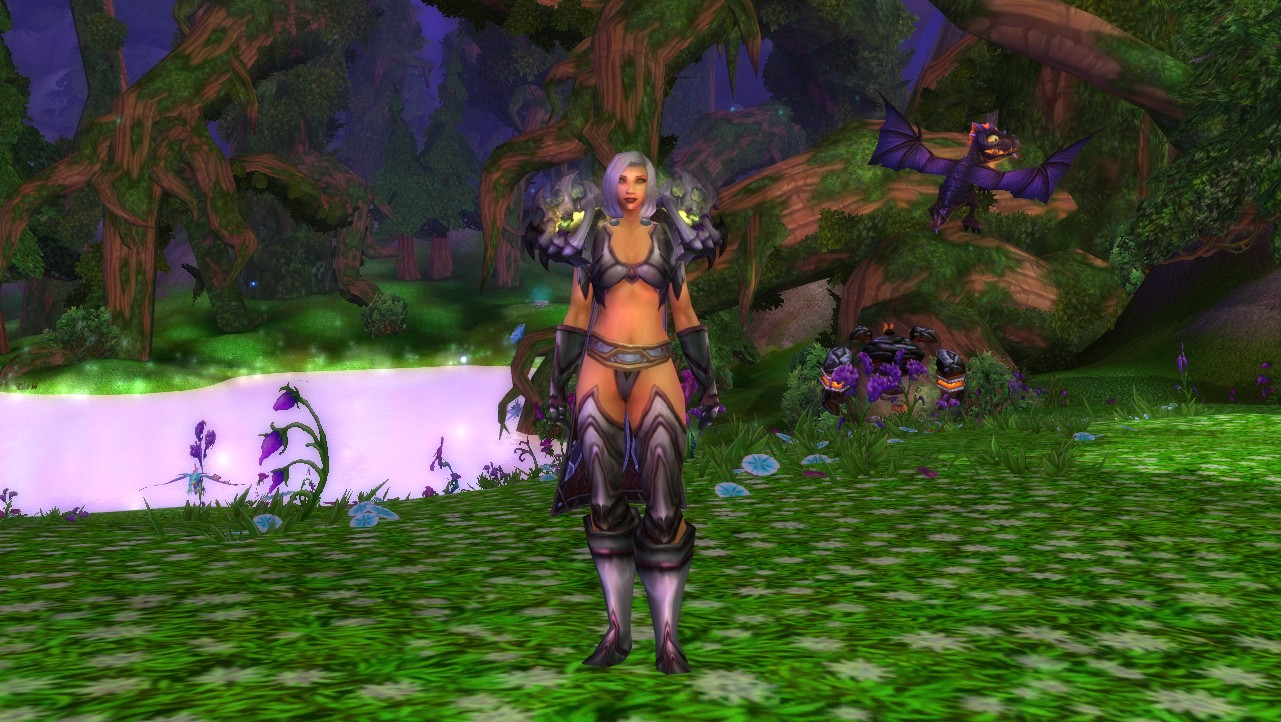 Hanging with my Onyxian Whelpling in Mount Hyjal & Mogalicious Mia: Saltstone Plate