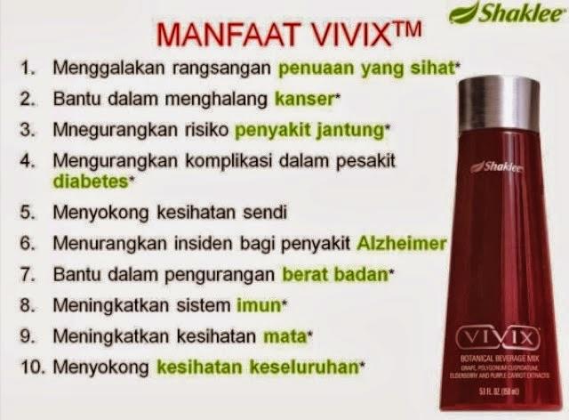 shaklee kebaikan vivix