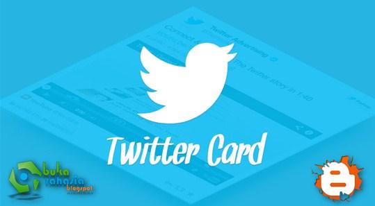 cara memasang twitter cards blogger lengkap