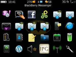 Tema Batman untuk BlackBerry