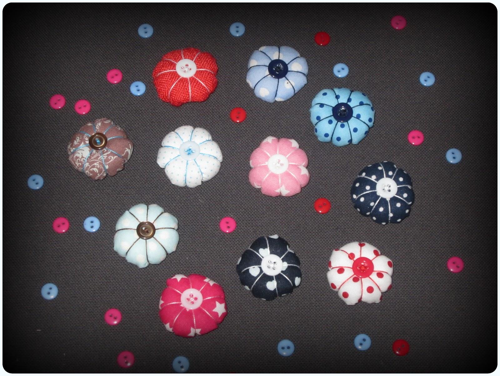 flores para diademas de tela - ChikiPol
