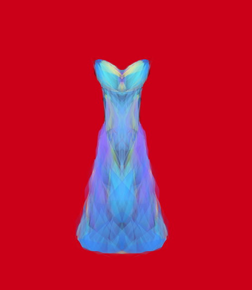Crystalike dress in blue