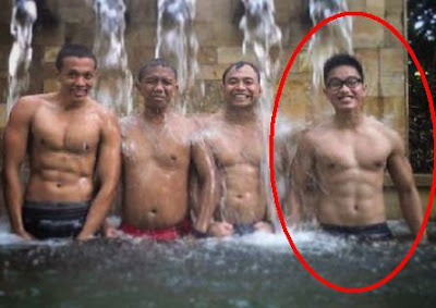 tubuh six pac kaesang pangarep anak jokowi