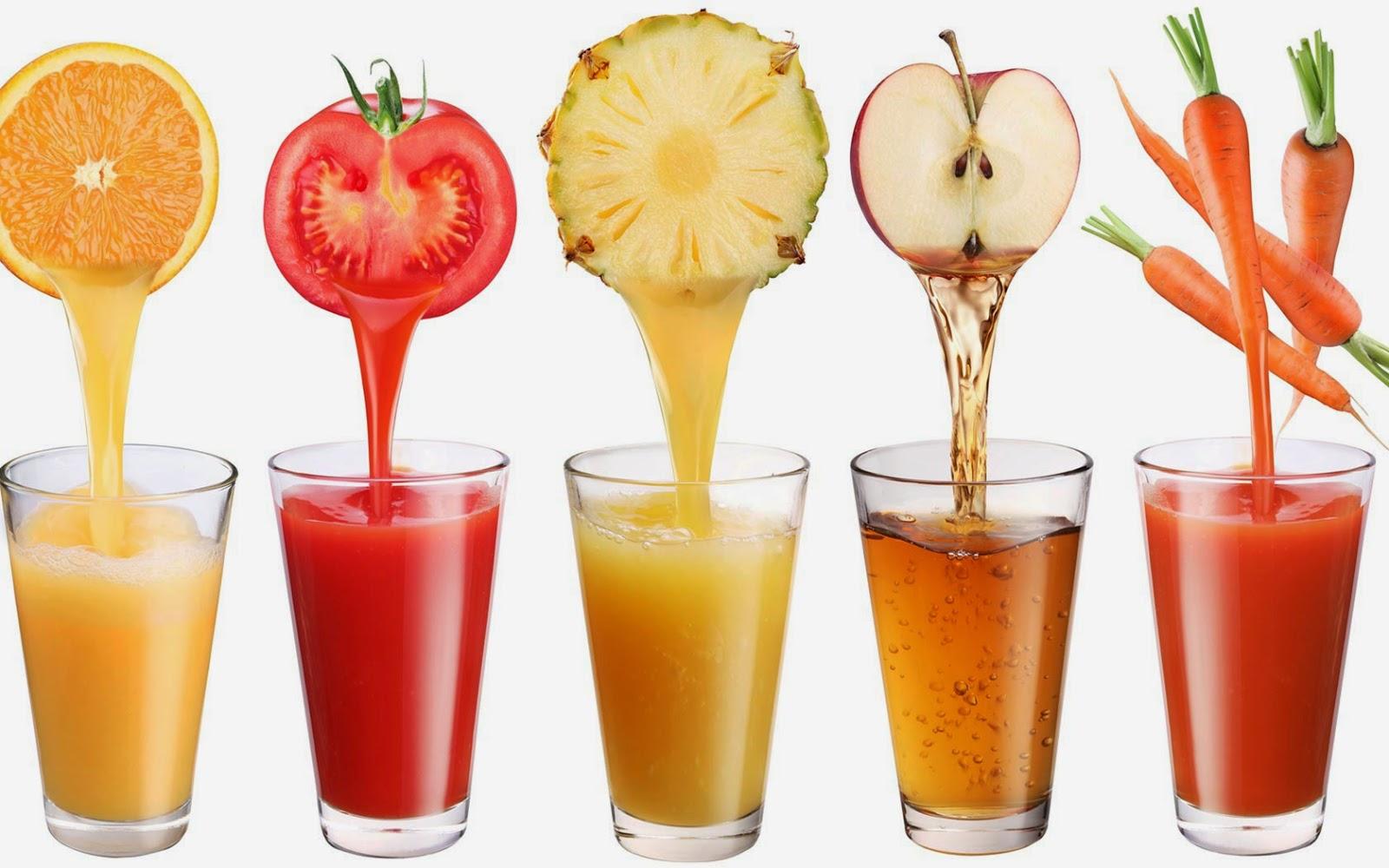 Большой выбор фруктовых соков