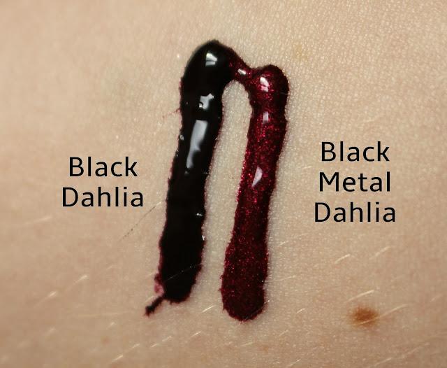 Lip Tars L-R Black Dahlia, Black Metal Dahlia