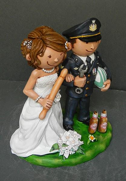 statuine torta nuziali cake tops divertenti sposa mattarello orme magiche