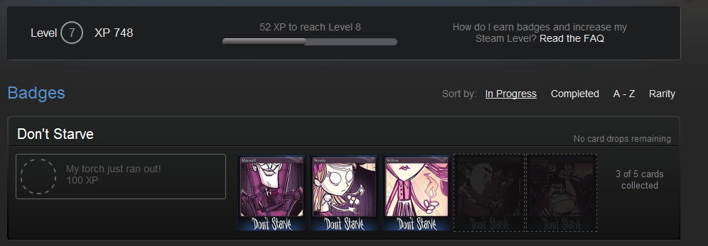 Any point in steam trading cards
