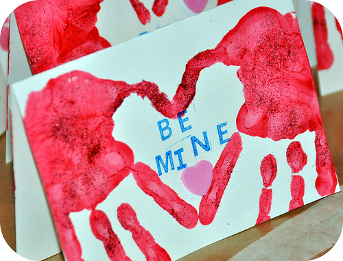 Be different act normal handprint valentine craft for kids for Kids valentines day craft