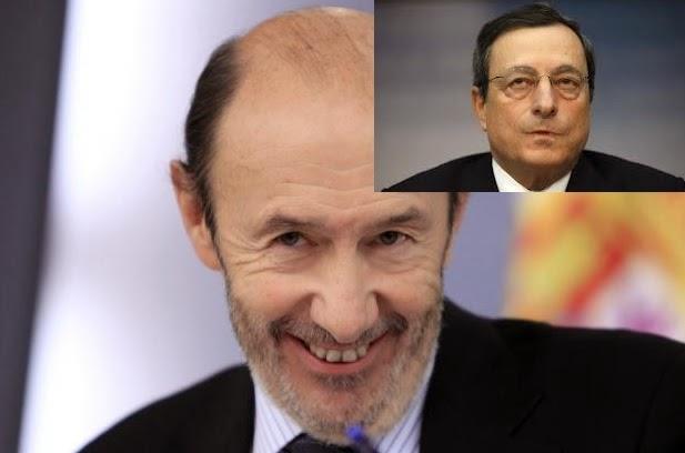 Rubalcaba.Draghi. Elecciones europeas. OXIMORON.